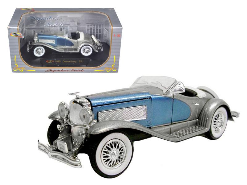 1935 Duesenberg SSJ Blue/Silver 1/32 Diecast Model Car Signature Models 32318