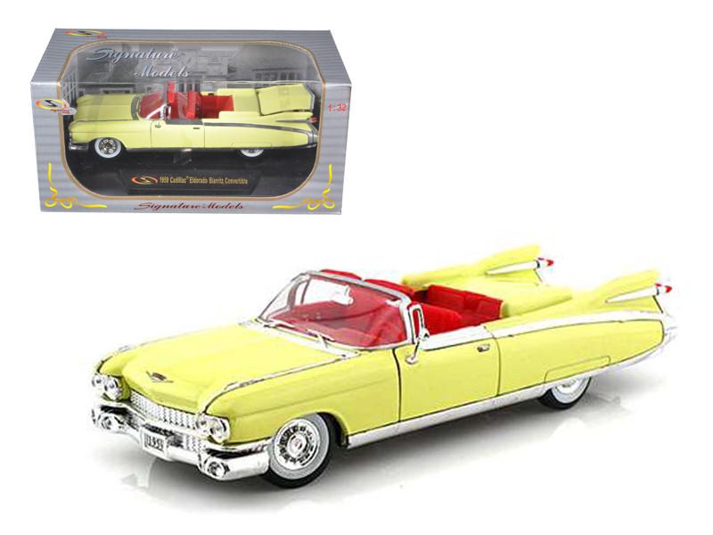 1959 Cadillac Eldorado Biarritz Yellow 1/32 Diecast Car Model  Signature Models 32350