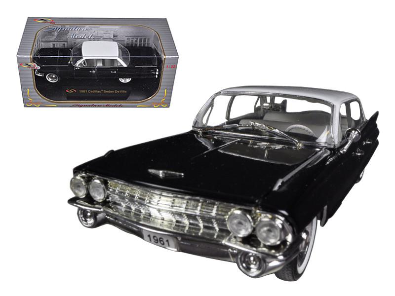 1961 Cadillac Sedan De Ville Eldorado Black 1/32 Diecast Car Model Signature Models 32362