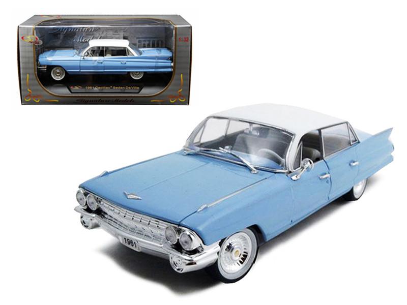 1961 Cadillac Sedan De Ville Eldorado Blue 1/32 Diecast Car Model Signature Models 32362