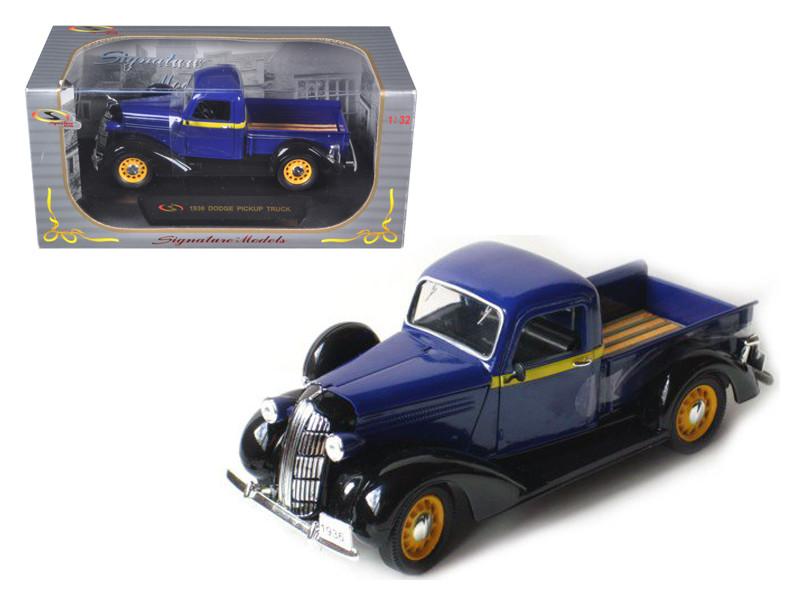1936 Dodge Pickup Truck Blue 1/32 Diecast Car Model by Signature Models