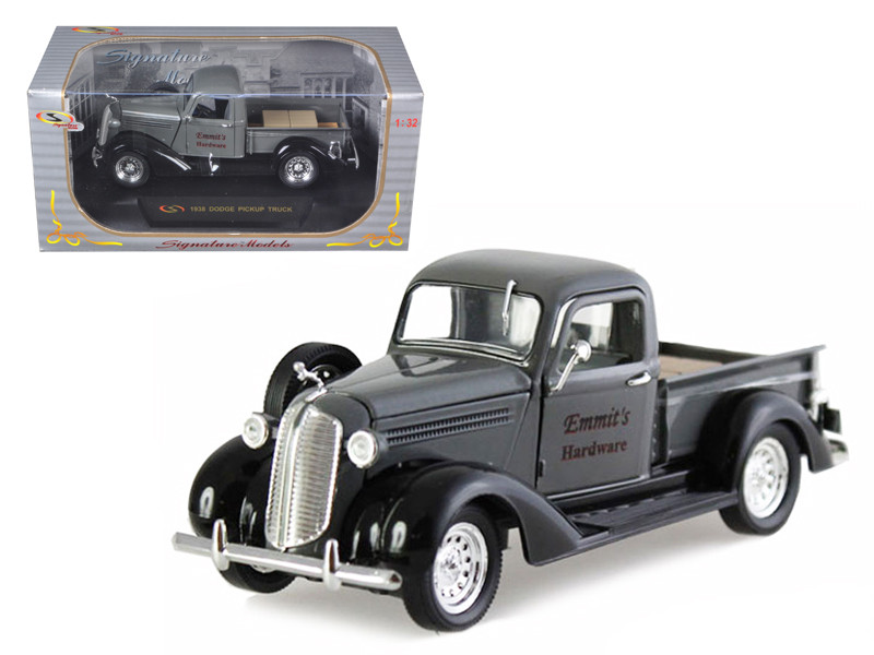 """1938 Dodge Pickup Truck Grey \Emmit\'s Hardware\"""" 1/32 Diecast Car Model by Signature Models"""""""""""""""