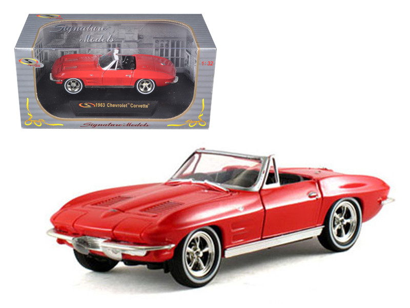 1963 Chevrolet Corvette Convertible Red 1/32 Diecast Model Car Signature Models 32435