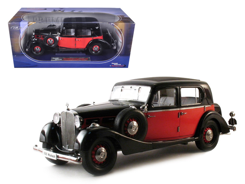 1935 Maybach SW35 Spohn Red/Black 1/18 Diecast Model Car by Signature Models