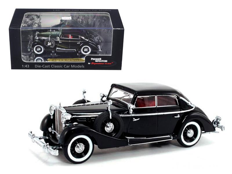1938 Maybach SW38 Spohn 4 Doors Black Convertible 1/43 Diecast Car Model by Signature Models