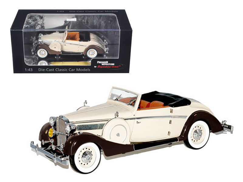 1937 Maybach SW38 Spohn 2 Doors Tan Convertible 1/43 Diecast Car Model Signature Models 43705