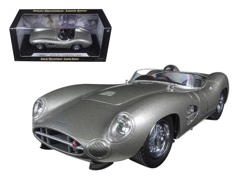1959 Aston Martin DBR1 Silver 1/18 Diecast Model Car by Shelby Collectibles