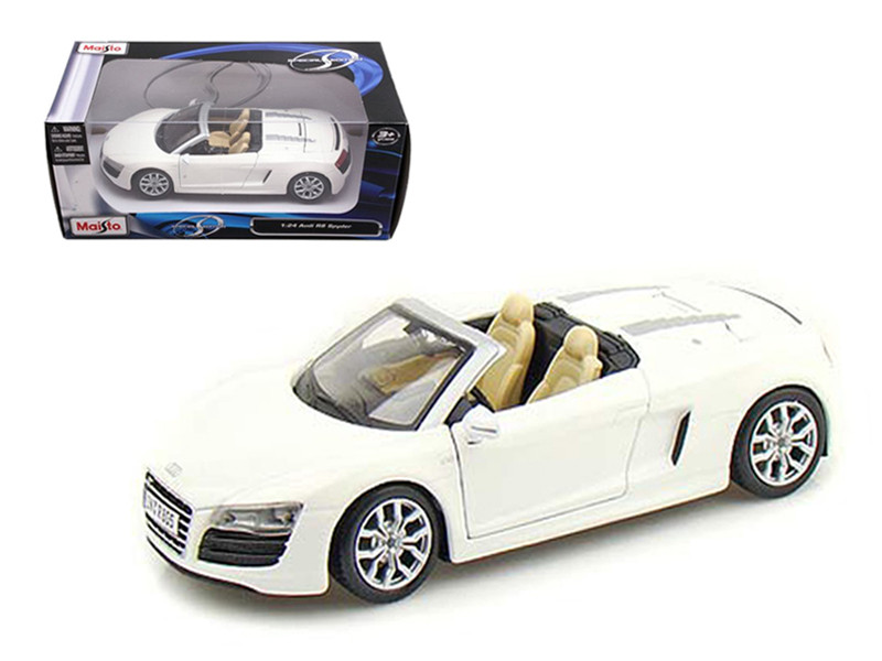 2011 Audi R8 Spyder White 1/24 Diecast Model Car Maisto 31204