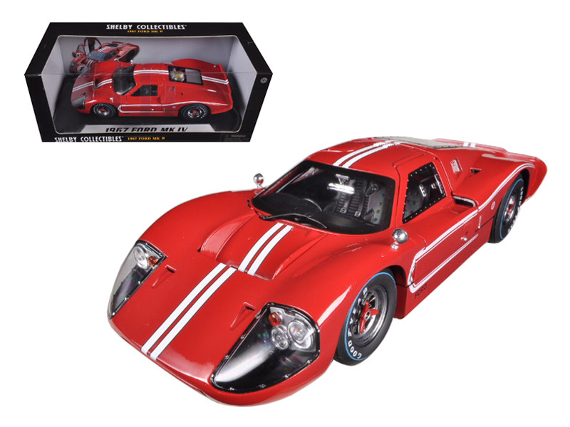 Ford Gt Mk Iv Red  Cast Car Model Shelby Collectibles Sc