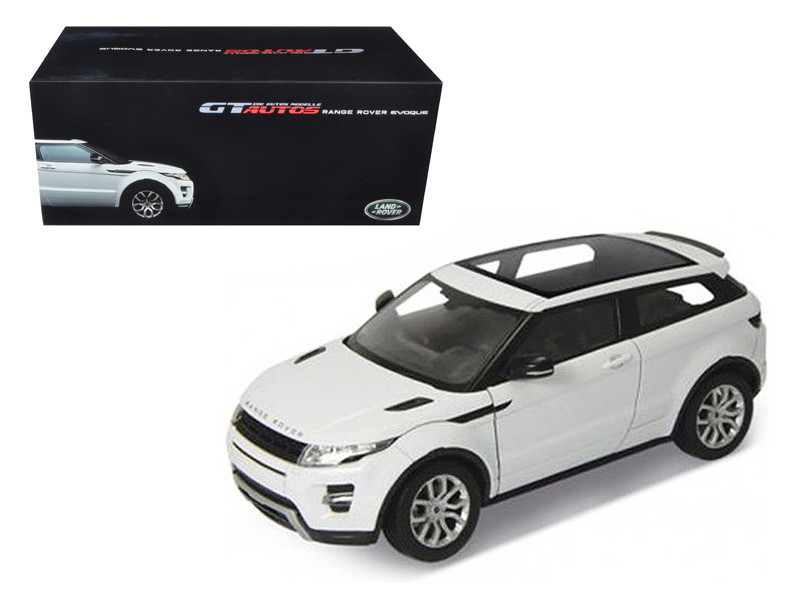 Range Rover Evoque White With White Roof 1/18 Diecast Car Model Welly 11003