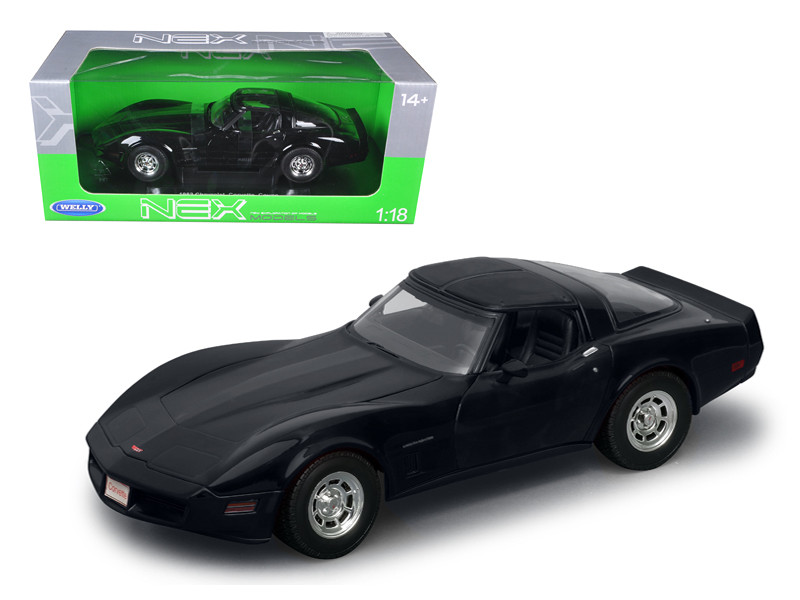 1982 Chevrolet Corvette Black 1/18 Diecast Car Model Welly 12546