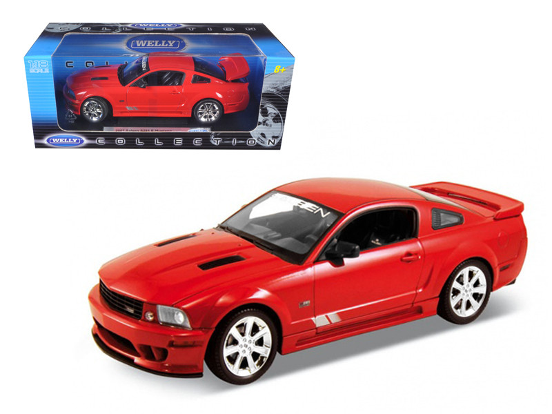 2007 Ford Mustang Shelby Saleen S281E Red 1/18 Diecast Model Car Welly 12569