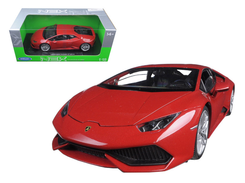 Lamborghini Huracan LP 610-4 Red 1/18 Diecast Model Car Welly 18049