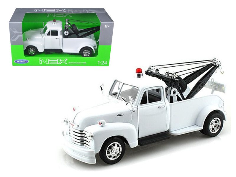 1953 Chevrolet 3800 Tow Truck Plain White 1/24 Diecast Model Welly 22086