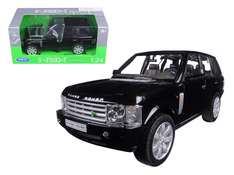 2003 Land Rover Range Rover Black 1/24 Diecast Model Car Welly 22415