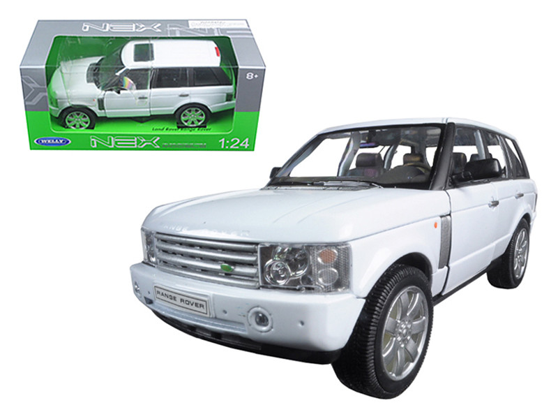 2003 Land Rover Range Rover White 1/24 Diecast Model Car Welly 22415