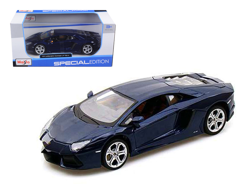 2011 2012 Lamborghini Aventador LP700-4 Blue 1/24 Diecast Model Car by Maisto