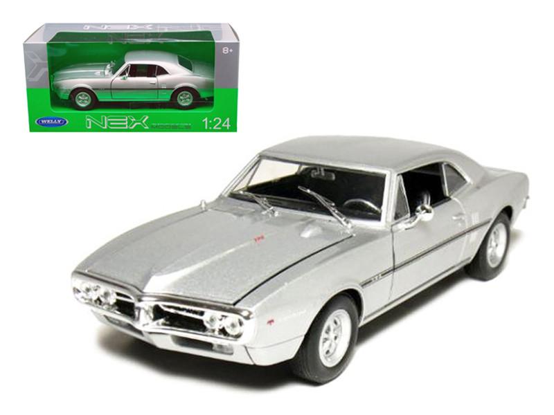 1967 Pontiac Firebird Silver 1/24 Diecast Car Model by Welly