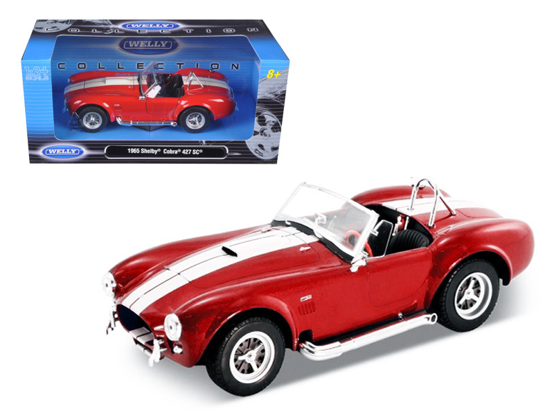 1965 Shelby Cobra 427 S/C Red 1/24 Diecast Car Model Welly 24002