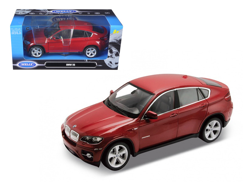 2011 2012 BMW X6 Red 1/24 Diecast Car Model Welly 24004