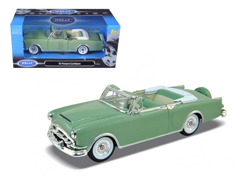 1953 Packard Caribbean Convertible Green 1/24 Diecast Car Model by Welly