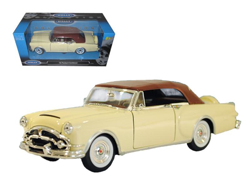 1953 Packard Caribbean Soft Top Cream 1/24 Diecast Car Model by Welly