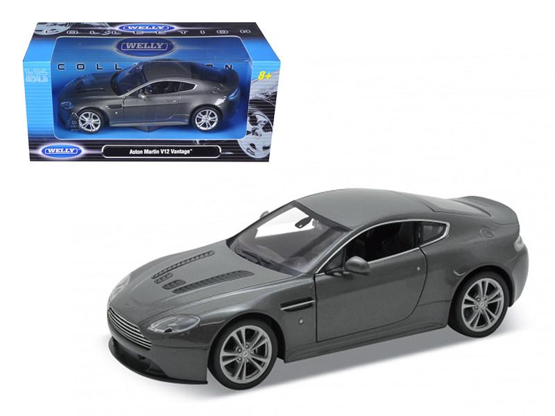 2010 Aston Martin V12 Vantage Grey 1/24 Diecast Model Car by Welly