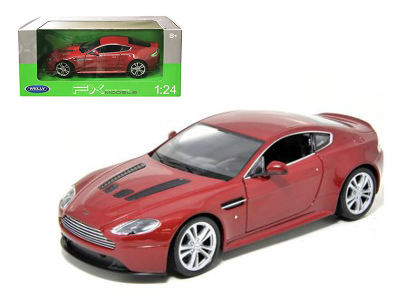2010 Aston Martin V12 Vantage Red 1/24 Diecast Model Car Welly 24017