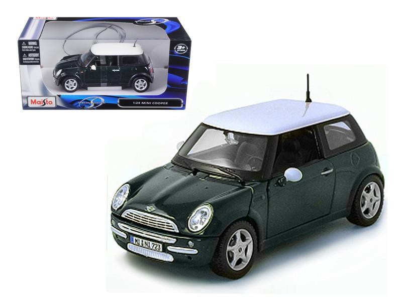 Mini Cooper Green 1/24 Diecast Model Car by Maisto