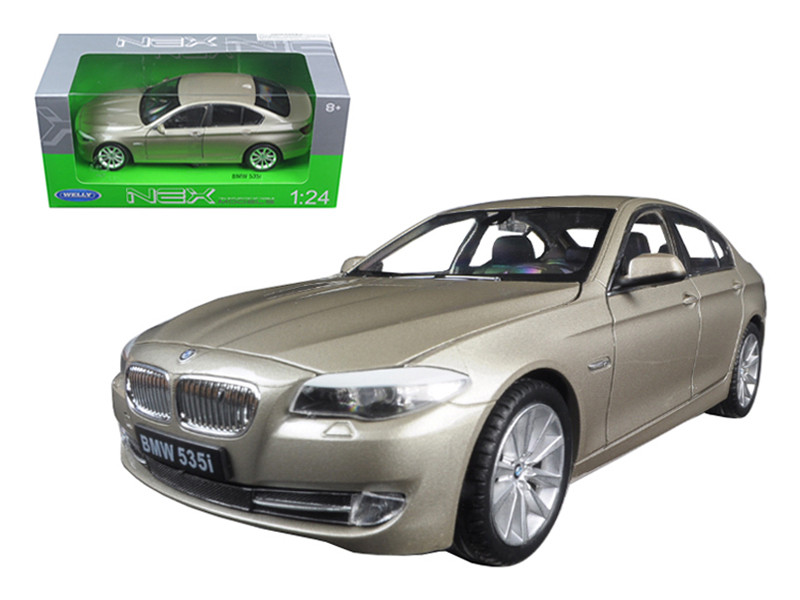 2010 BMW (F10) 535i 5 Series Gold 1/24 Diecast Model Car Welly 24026