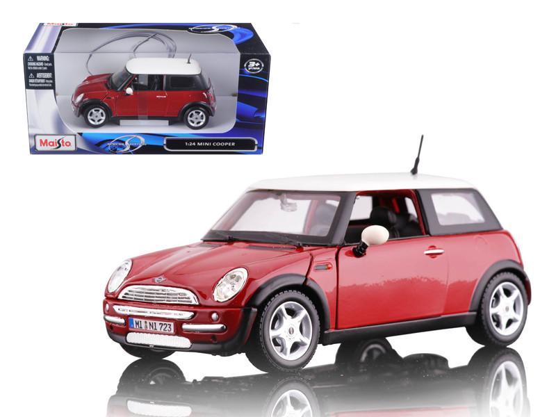 Mini Cooper Red 1/24 Diecast Model Car by Maisto