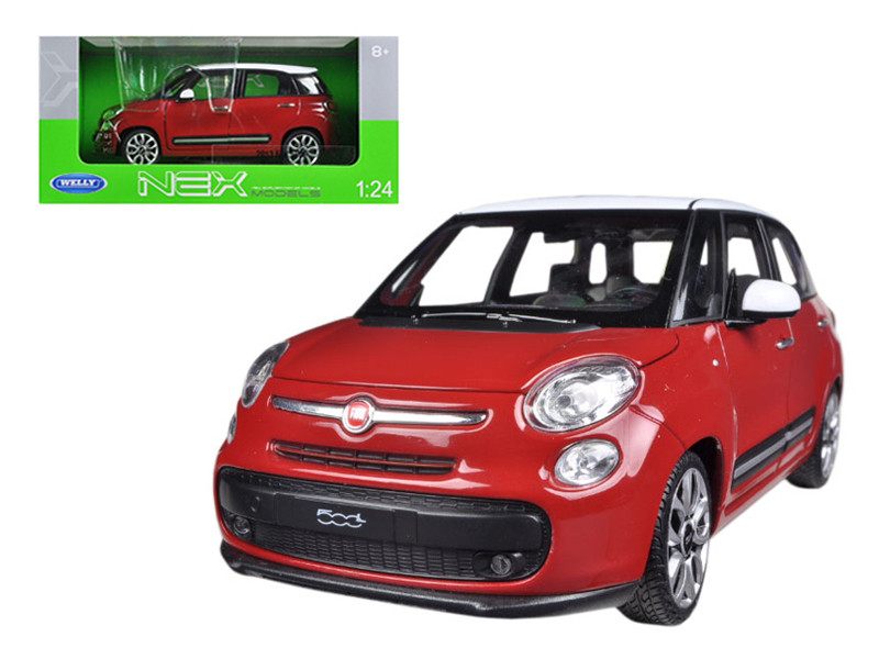 2013 Fiat 500L Red 1/24 Diecast Car Model by Welly