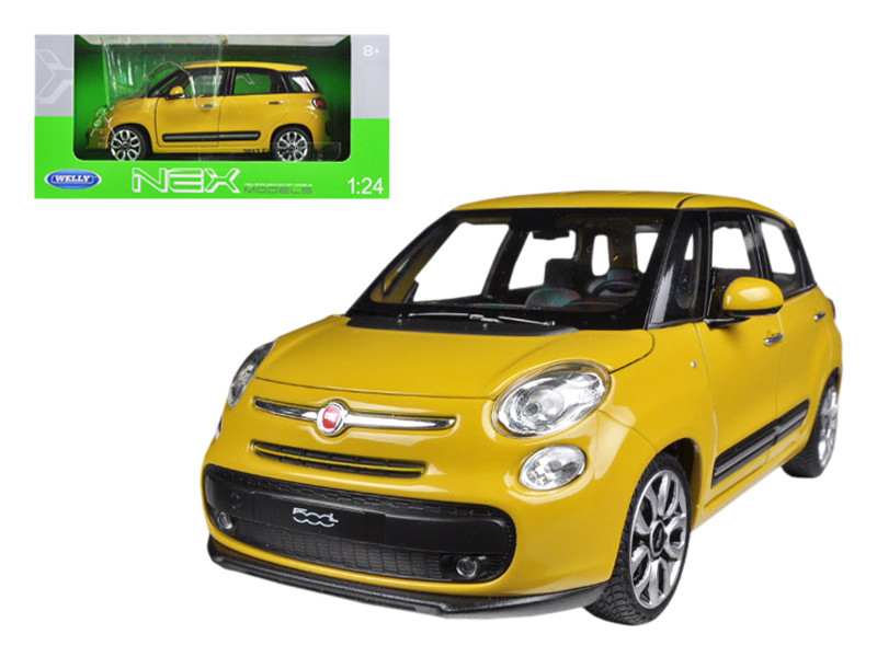 2013 Fiat 500L Yellow 1/24 Diecast Car Model by Welly