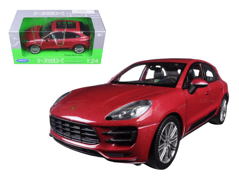 Porsche Macan Turbo Red 1/24 Diecast Model Car Welly 24047