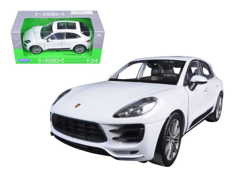 Porsche Macan Turbo White 1/24 Diecast Model Car Welly 24047