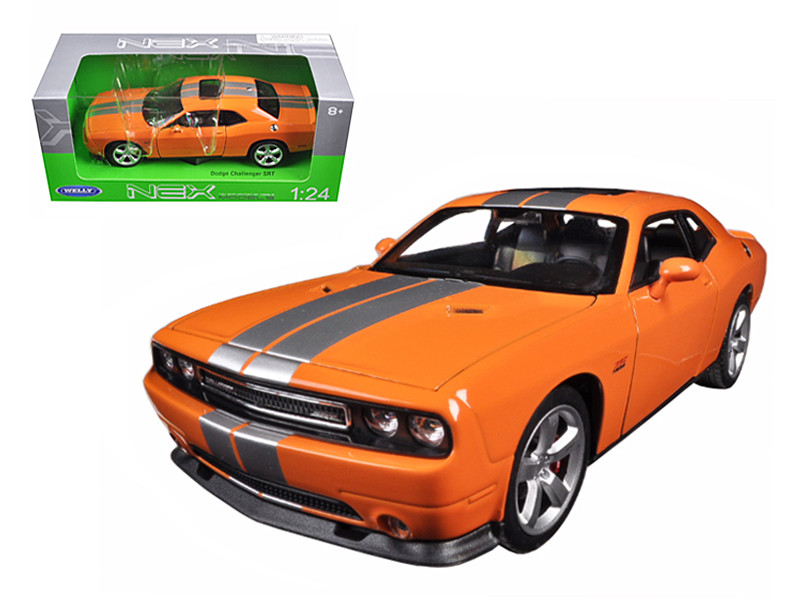 2013 Dodge Challenger SRT Orange 1/24 Diecast Model Car Welly 24049