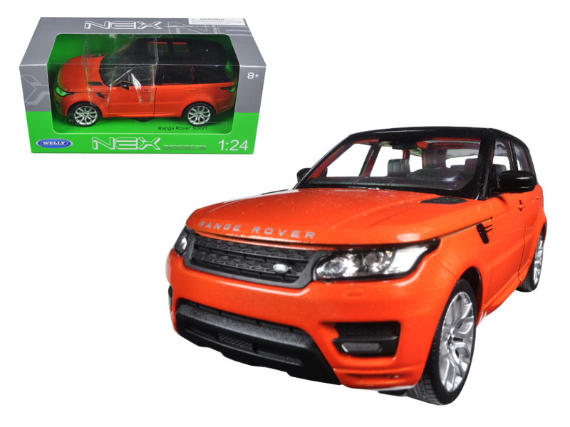Range Rover Sport Orange 1/24 Diecast Model Car Welly 24059
