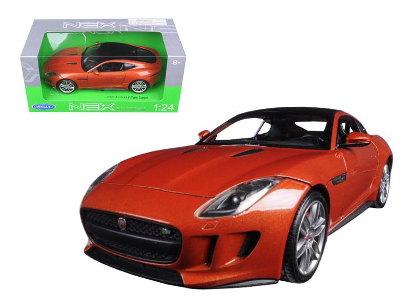 2015 Jaguar F-Type Orange 1/24 Diecast Model Car Welly 24060