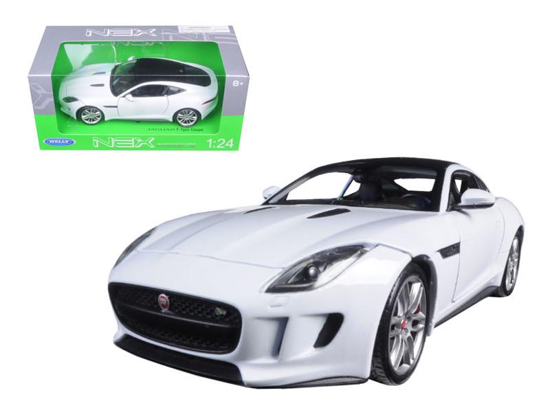 2015 Jaguar F-Type White 1/24 Diecast Model Car Welly 24060