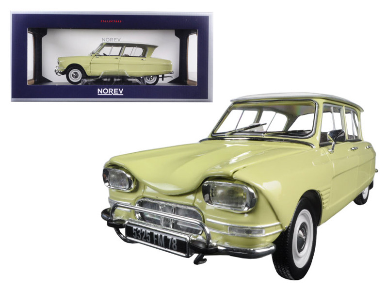 1964 Citroen Ami 6 Naples Yellow 1/18 Diecast Model Car by Norev