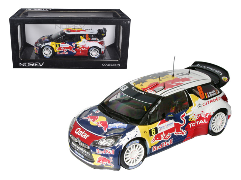 "Citroen DS3 #8 WRC Rally France 2012 Neuville / Gilsoul \Red Bull"" 1/18 Diecast Car Model by Norev"""""""