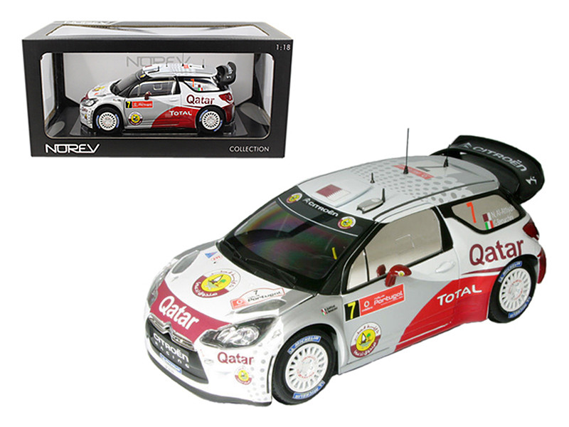 Citroen DS3 #7 WRC Rally Portugal 2012 Al-Attiyah / Bernacchini 1/18 Diecast Car Model Norev 181558