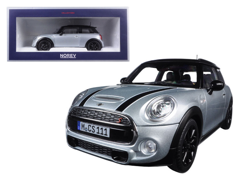 2015 Mini Cooper S Silver Metallic and Black 1/18 Diecast Model Car Norev 183110