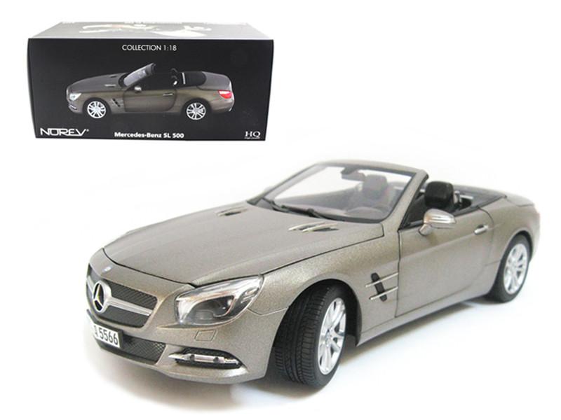 2012 Mercedes Sl Class SL 500 Matt Grey 1/18 Diecast Car Model Norev 183590