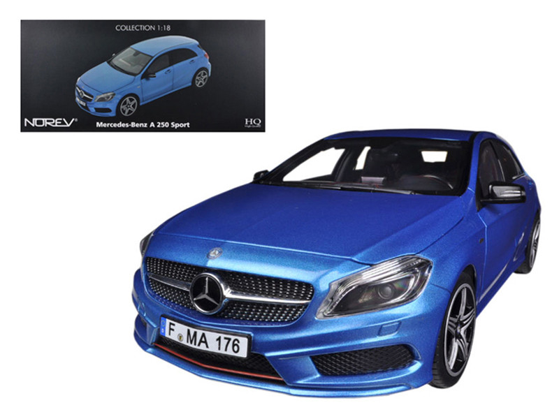 2012 Mercedes A 250 Sport Blue 1/18 Diecast Car Model Norev 183595