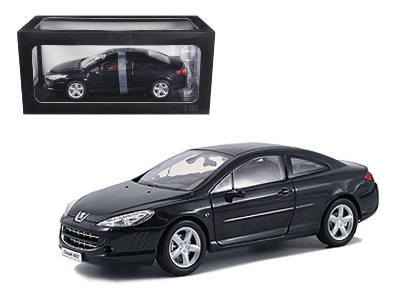 Peugeot 407 Black 1/18 Diecast Model Car Norev 184752