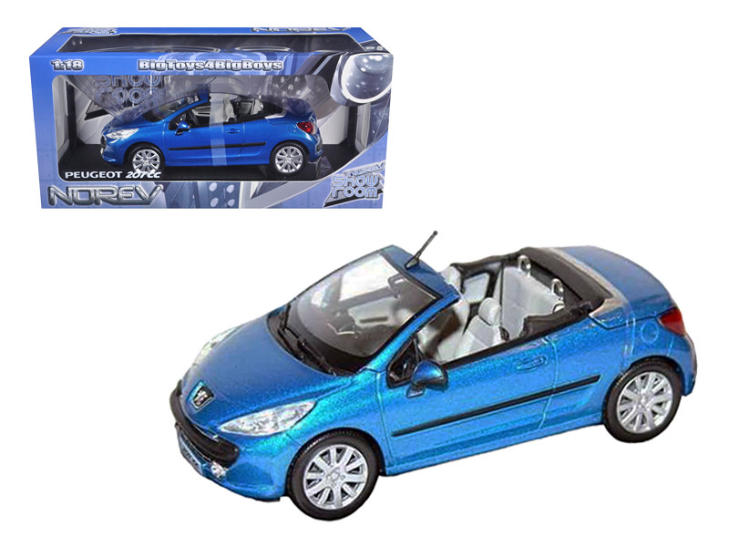 Peugeot 207CC Convertible Blue 1/18 Diecast Car Model Norev 184765