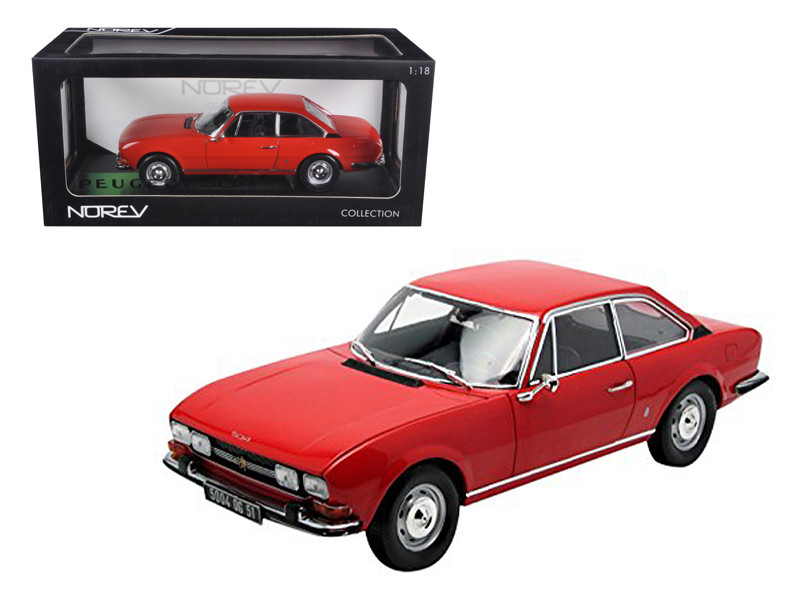 1971 Peugeot 504 Coupe Red 1/18 Diecast Car Model Norev 184776