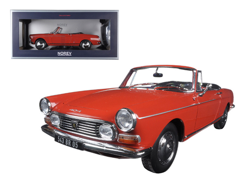 1967 Peugeot 404 Cabriolet Capanelle Red 1/18 Diecast Model Car Norev 184779