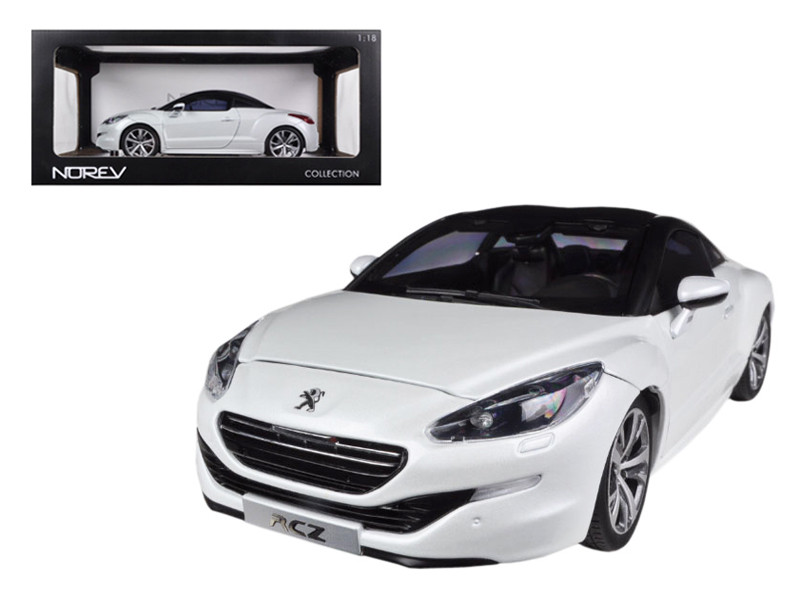 2012 Peugeot RCZ Pearl White 1/18 Diecast Car Model Norev 184782